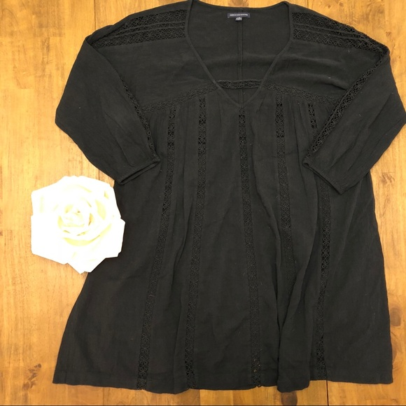 American Eagle Outfitters Dresses & Skirts - Laced Boho T-shirt Dress